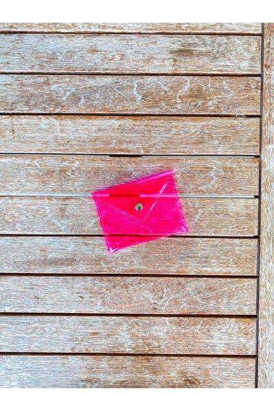 Neon Pembe Şeffaf Bozuk Para Çantası, Pembe Pvc Küçük Cüzdan