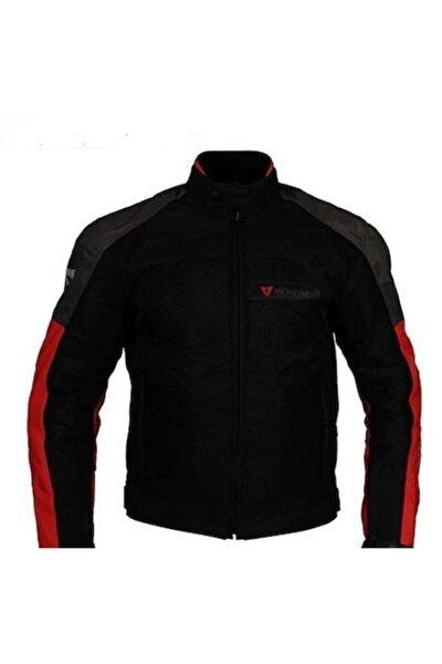 Dynamic Gri-kırmızı Motosiklet Ceketi