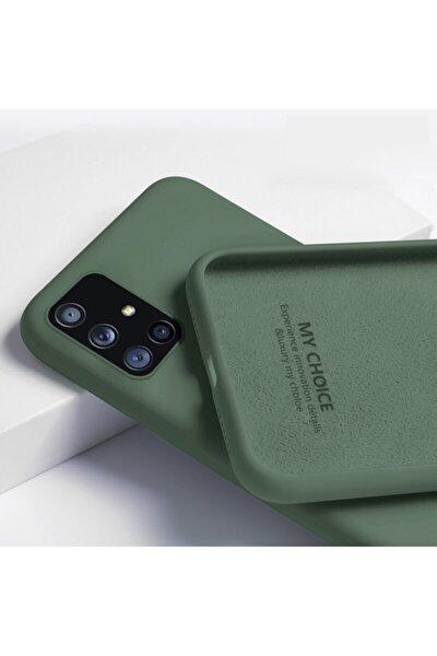 Samsung A51 Içi Kadife Lansman Silikon Kılıf Koyu Yeşil
