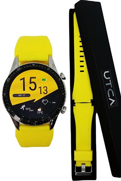 Huawei Watch Gt2 – Gt2 Pro Akıllı Saat 44/46mm Renkli Kordon Kayış – Sarı