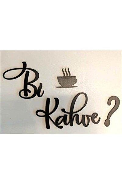 Siyah Ahşap Lazer Kesim Dekoratif Duvar Süsü Bi Kahve