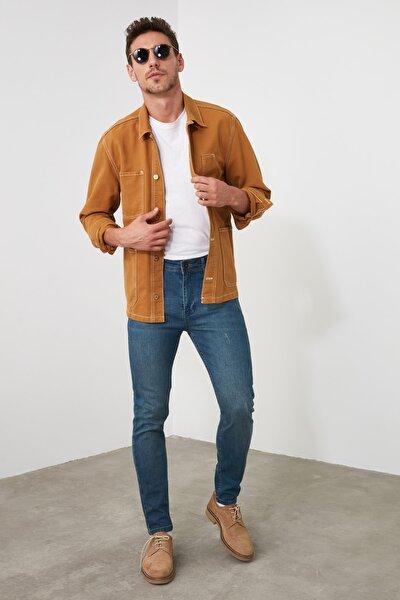Indigo Erkek Tırmık Destroylu Tapared Skinny  Jeans TMNAW21JE0168