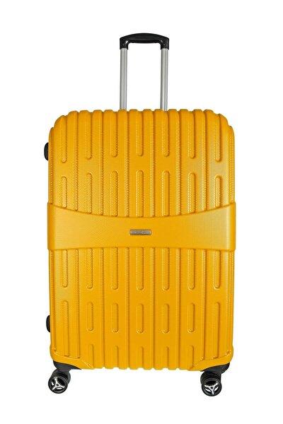 Sarı Unisex Büyük Boy Valiz ÇÇS5163-L