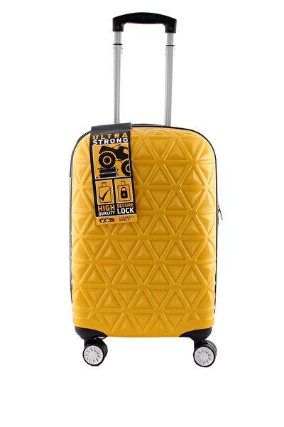 Sarı Unisex Büyük Boy Valiz 8743011225969