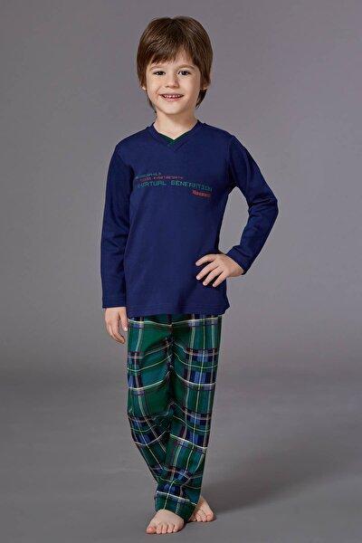 Erkek Çocuk Lacivert Pijama Takımı R6KE23