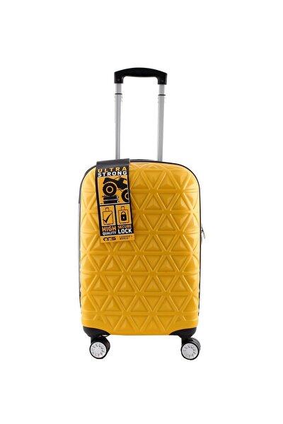 Sarı Unisex Kabin Boy Valiz 8743011225971