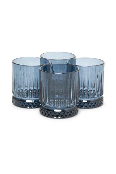 Elysia Mavi 4'lü Viski Bardağı 520004