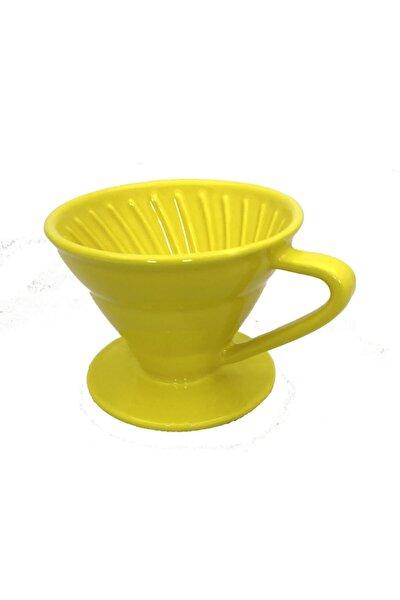 V60 Dripper Seramik Kahve Demleme (SARI)