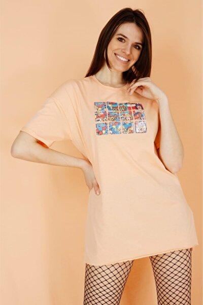 Dijital Baskılı Melon T-shirt 100% Pamuk