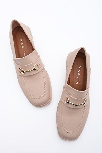 Kadın Bej Loafer Ayakkabı Races