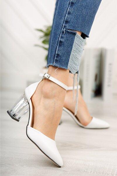 Kadın Şeffaf Kalın Ökçe Ayakkabı