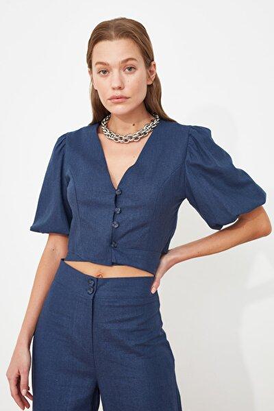 Mavi Kuşaklı Bluz TWOSS21BZ1261