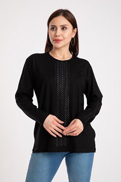 Kadın Siyah Anne Penye Bluz 308