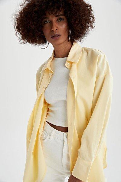 Basic Oversize Fit Pamuklu Poplin Gömlek Tunik