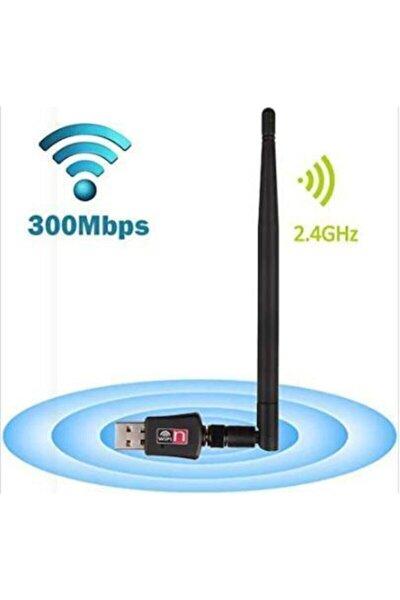300 Mbps Antenli Wireless Adaptör Kablosuz Ağ Pc Wifi Alıcı Usb