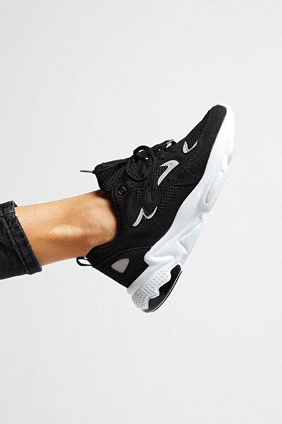 Unısex Siyah Beyaz Spor Ayakkabı Tb251
