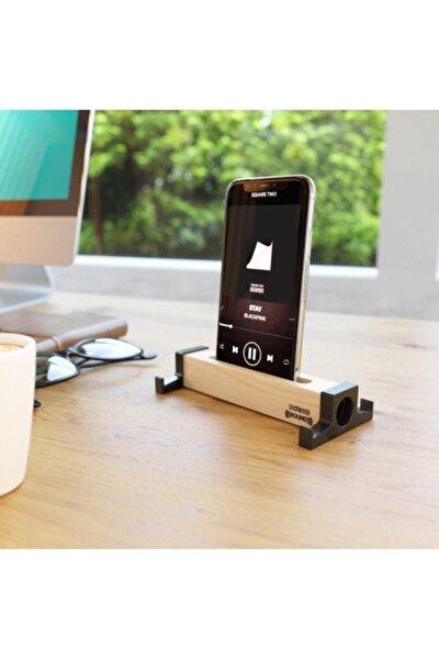 Ahşap Akustik Telefon & Tablet Standı. Ses Artırma Ve Sese Akustik Katma Özelliği Stero Ses Kalitesi