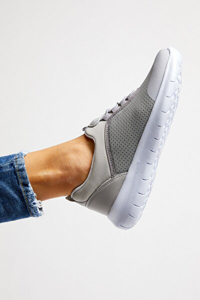 Açık Gri Kadın Spor Ayakkabı Tbpny