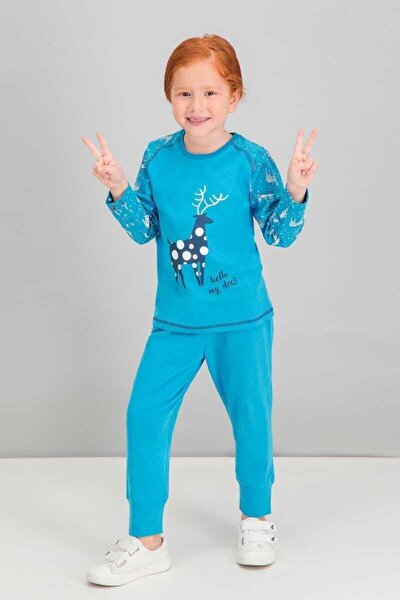 Kız Çocuk Pijama Takımı Garson Uzun Kol (rpoly1548g)