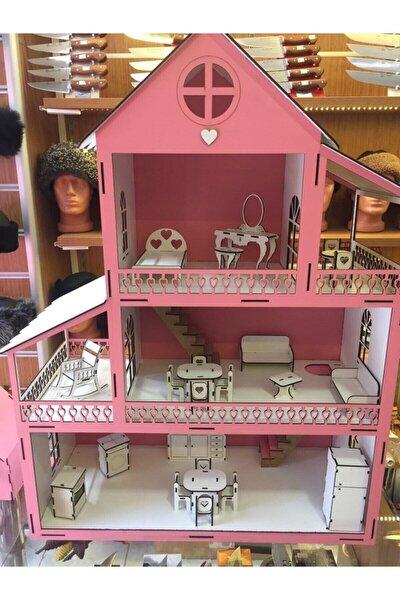 Kampanya Ahşap Çocuk Oyun Evi 80cm Ve 26 Mobilyalı