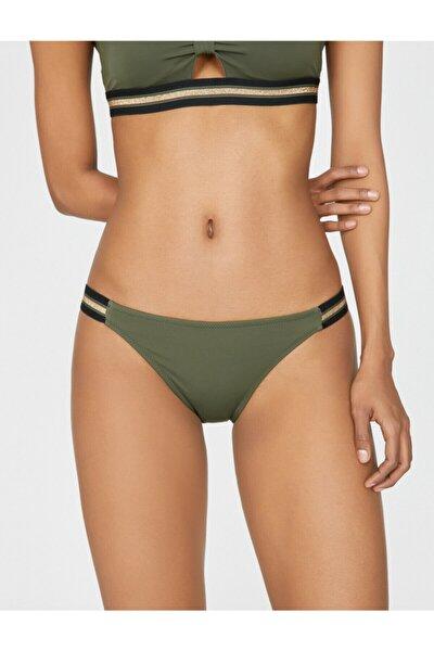 Kadın Yeşil Desenli Bikini Altı 9YAK88720OM