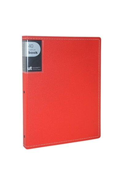Shuter Sert Pp Kapak A4 Sunum Dosyası 40lı Kırmızı