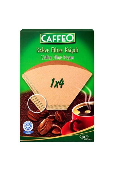 Kahve Filtre Kağıdı 1x4 80 Adet