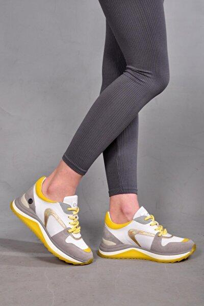 Kadın Gri Bağcıklı Spor Ayakkabı 800 21y