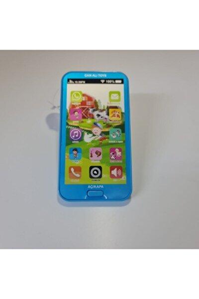 Çocuk Mavi Sesli Işıklı Müzikli Oyuncak Telefon