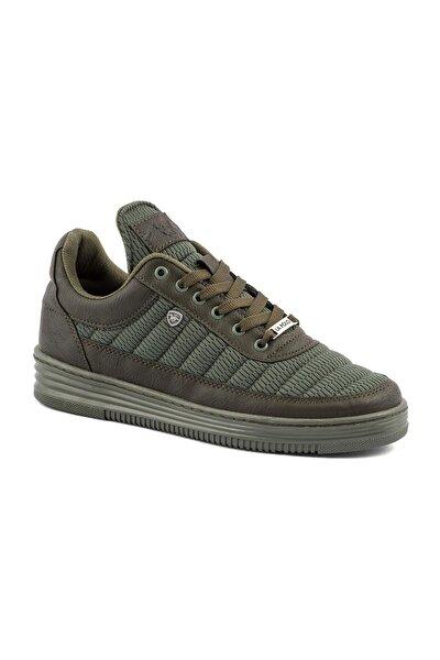 077 Haki Haki Dikişli Taban Yazlık Erkek Spor Ayakkabı