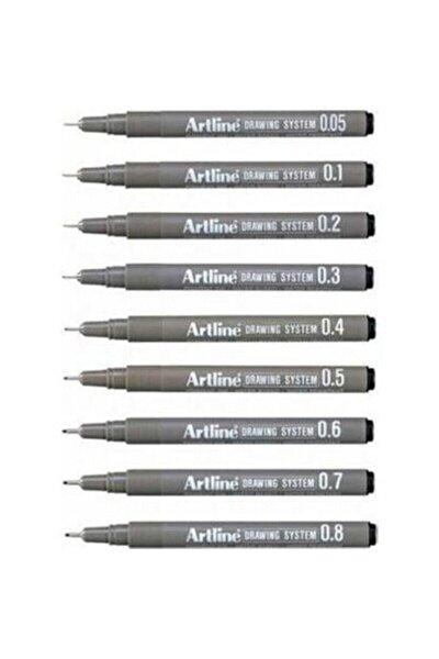 Drawing System Teknik Çizim Kalemi 9'lu Tam Set