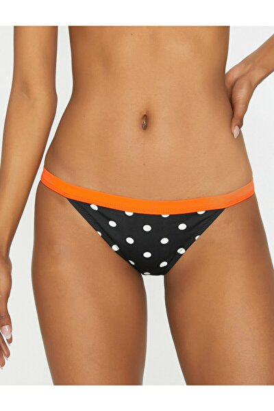 Kadın Siyah Puantiyeli Bikini Altı