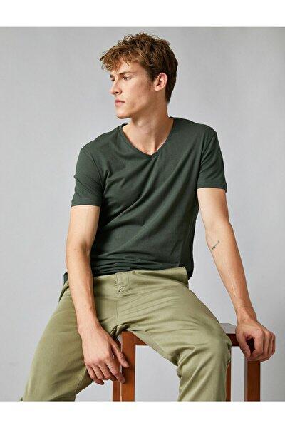 Erkek Yeşil T-Shirt 1KAM12138LK