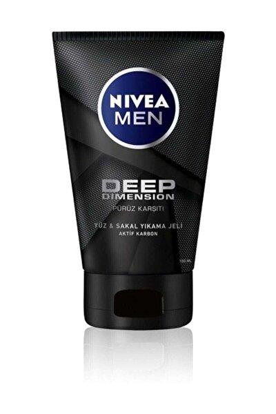 Men Deep Dimension Yüz  Sakal Temizleme Jeli 100 ml