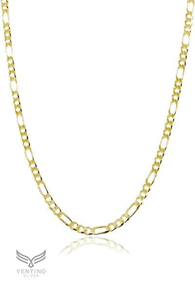 925 Ayar Gümüş Figaro Altın Kaplama Zincir Kolye Vek-3092