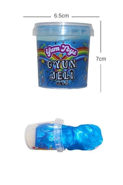 Slime Metalik Parlak Slime Eğitici Oyun Seti- Ce Belgeli- 1 Adet Mavi Renk