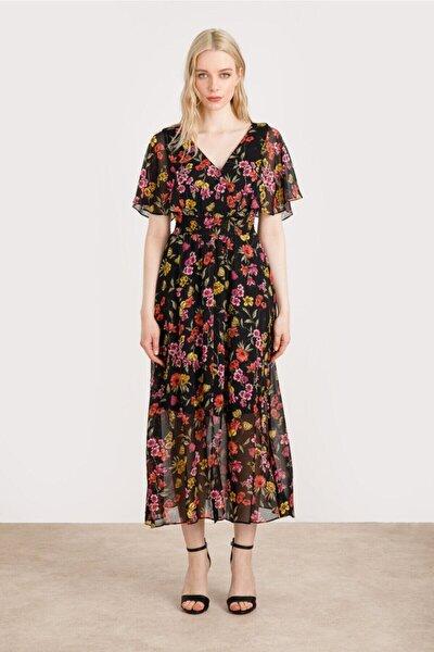 Kadın  Çiçek Desenli Şifon Elbise