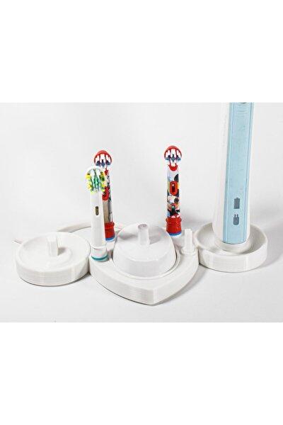 Şarjlı Diş Fırçaları Ve Başlıkları İçin Stand / 2 Fırça 1 Şarj 4 Başlık İçin Oral-b Uyumlu
