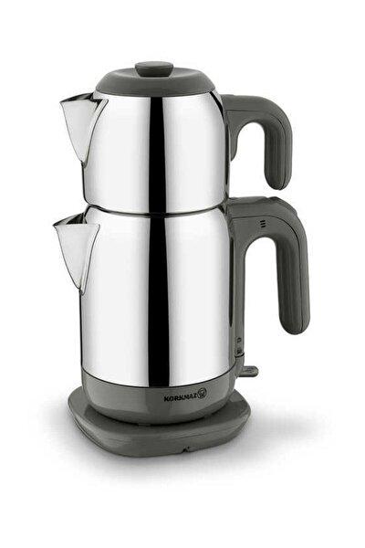 Demtez Satin/gri Elektrikli Çaydanlık