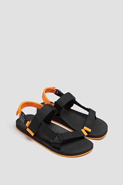 Erkek Siyah Teknik Sandalet