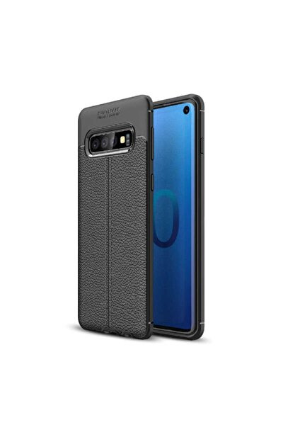 Galaxy S10 Plus Uyumlu (deri Görünüm) Nezih Case Silikon Kılıf