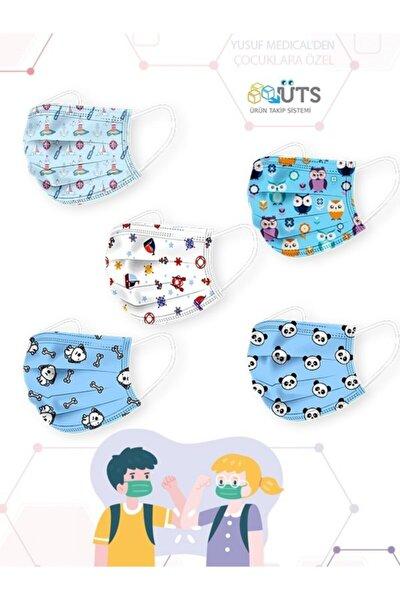 Cerrahi Meltblown Erkek Çocuk Maskesi 5 Farklı Desen 50 Adet
