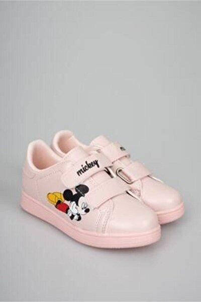Unisex Çocuk Pudra Cırtlı Günlük Spor Ayakkabı