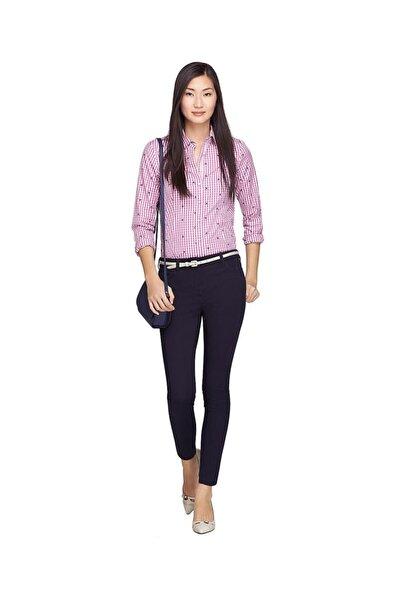 Kadın Lacivert Dar Paça Pantolon