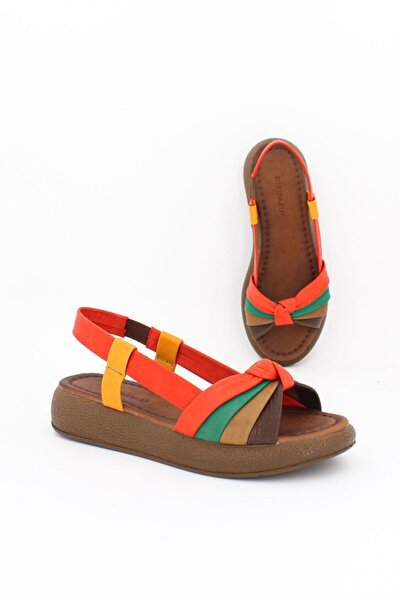 Hakiki Deri Multi2-t Kadın Deri Sandalet Dp-1841