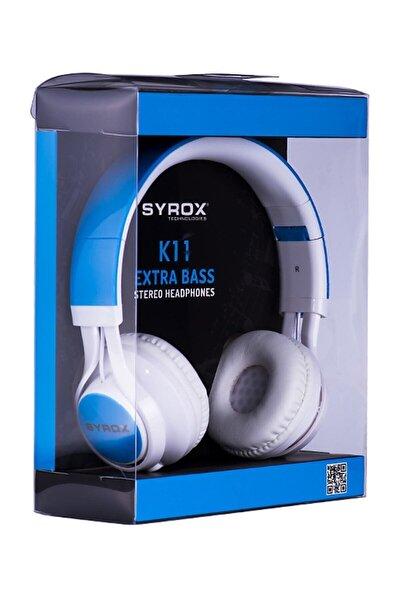 K11 Mikrofonlu Stereo Kablolu Kulak Üstü Kulaklık
