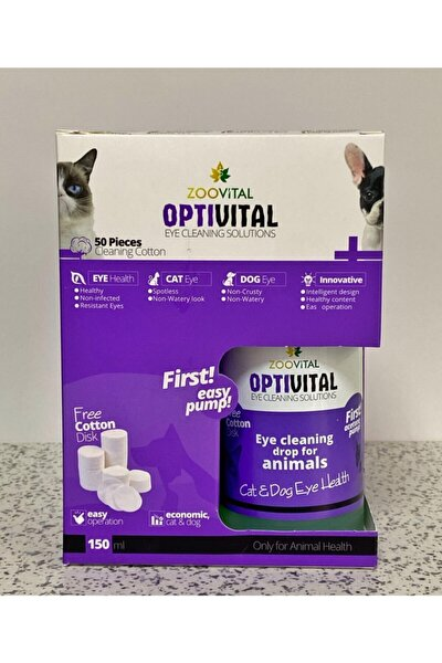 Zoo Vital Opti Vital Pamuk Hediyeli Göz Temizleme Solüsyonu 150 ml