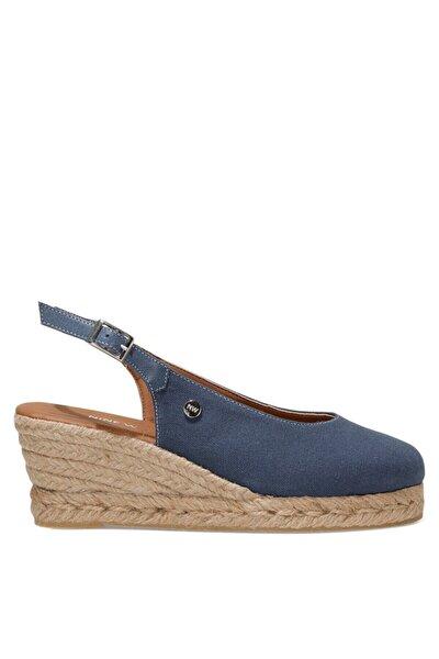 MERWILLA 1FX Lacivert Kadın Dolgu Topuklu Sandalet 101027189