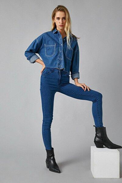 Kadın Mıd Indıgo Jeans 1KAK47335DD