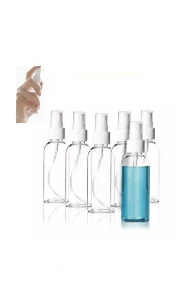 10 Adet 50 Ml Fısfıs Sprey Kapaklı Seyahat Cep Çanta Dezenfektan Parfüm Şişesi 50ml